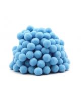 Помпон для декора Голубой 10 мм, 1шт