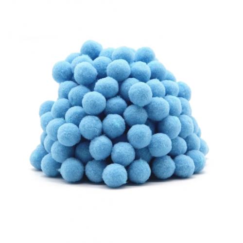 Помпон для декора Голубой 10 мм, фото
