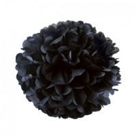 Помпон тишью Черный, 25 см