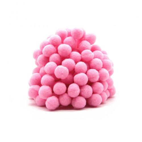 Помпон для декора Розовый 10 мм фото
