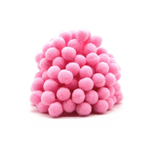 Помпон для декора Розовый 10 мм, 1шт