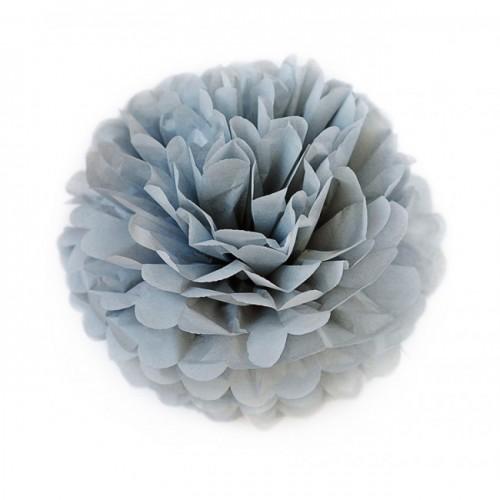 Помпон тишью серый, 35 см