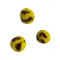 Помпон для декора Желтый с черным 20 мм, 1шт