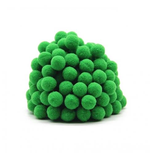 Помпон для декора Зеленый 10 мм, 1шт