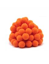 Помпон для декора Оранжевый 10 мм, 1шт