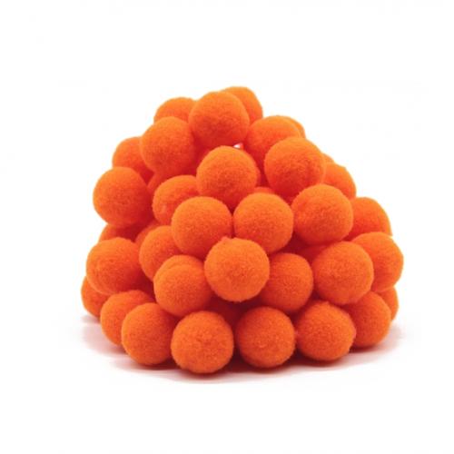Помпон для декора Оранжевый, фото