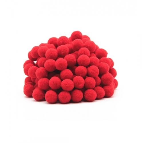 Помпон для декора Красный 10 мм, фото
