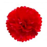 Помпон тишью Красный, 30 см