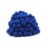 Помпон для декора Синий 20 мм, 1шт