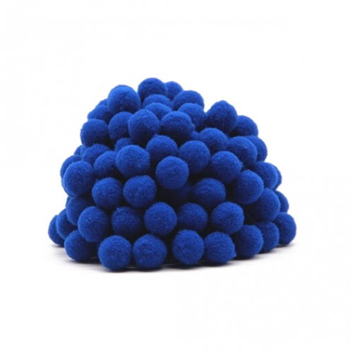 Помпон для декора Синий 10 мм, 1шт