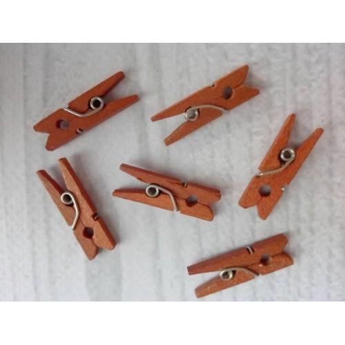 Прищепка деревянная Светло-коричневый