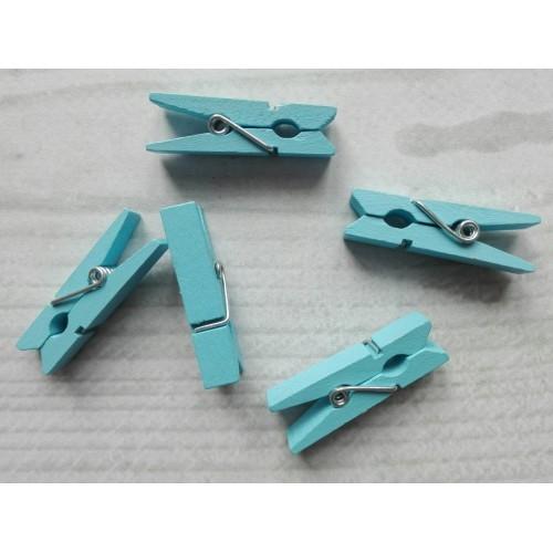 Прищепка декоративная, голубой, 3.5 см