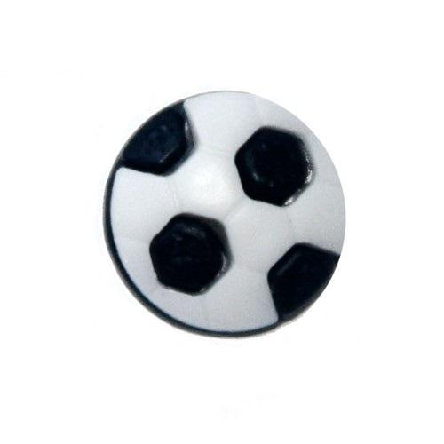 Пуговица Футбольный мяч черный, 10 мм