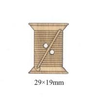 Деревянная пуговица Нитки, 29х19 мм