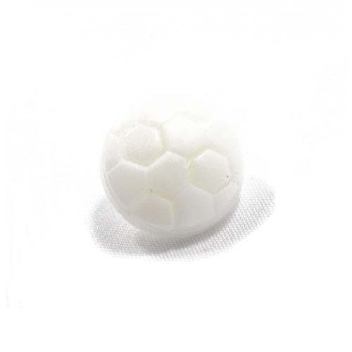 Пуговица Футбольный мяч белый 10 мм фото