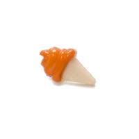 Пуговица Мороженое оранжевое, 21*13 мм