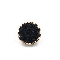Декоративная пуговица Роза черная