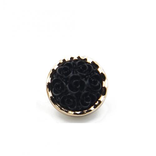 Декоративная пуговица Роза черная фото