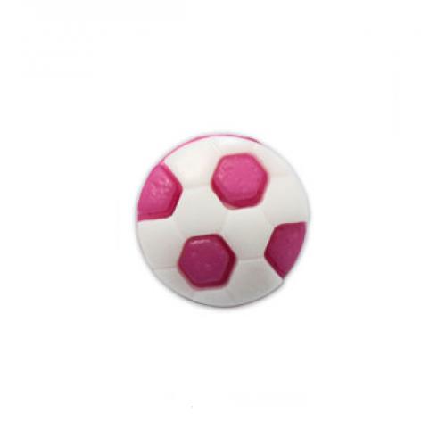 Пуговица Футбольный мяч малиновый, фото