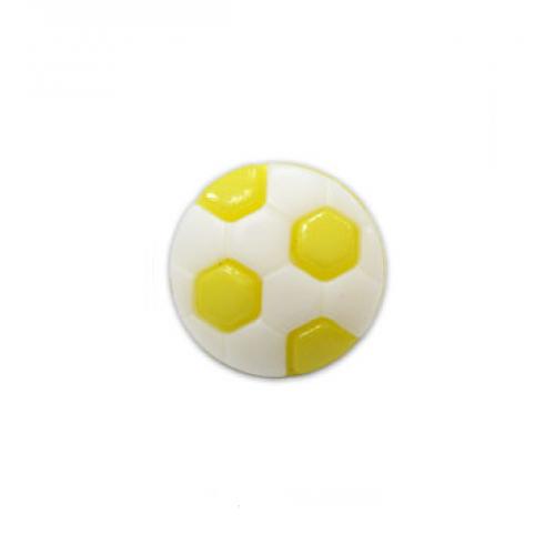 Пуговица Футбольный мяч лимонный, 10 мм