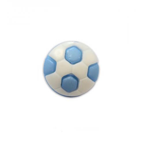 Пуговица Футбольный мяч синий, 10 мм