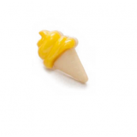Пуговица Мороженое желтое, 21*13 мм