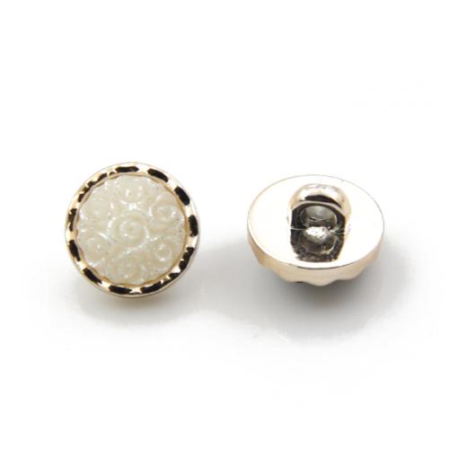 Декоративная пуговица Роза белая фото