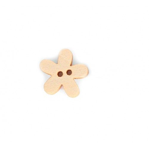 Деревянная пуговица Цветочек 15 мм фото