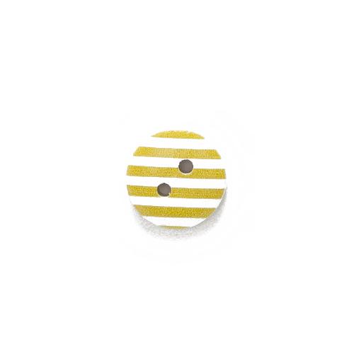 Пуговица деревянная с желтыми полосками фото