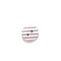 Пуговица деревянная с розовыми полосками