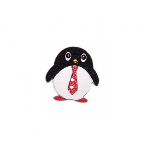 Пуговица деревянная Пингвин №2 фото