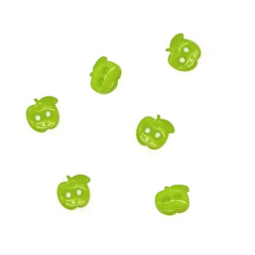 Пуговица пластиковая Яблоко, оливковая