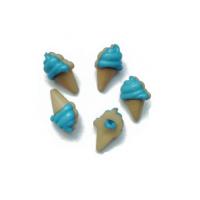 Пуговица Мороженое синее, 21*13 мм