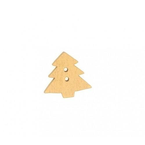 Пуговица деревянная Ёлка