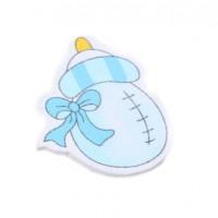 Деревянный декор Бутылочка голубая, 28Х35 мм