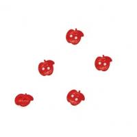 Пуговица пластиковая Яблоко красное