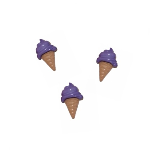 Пуговица Мороженое сиреневое,  21*13 мм