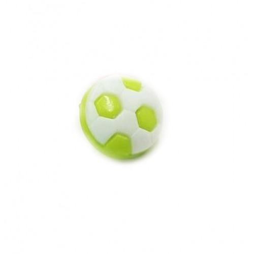 Пуговица Футбольный мяч салатовый, 10 мм