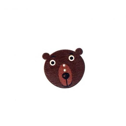 Пуговица деревянная Медведь
