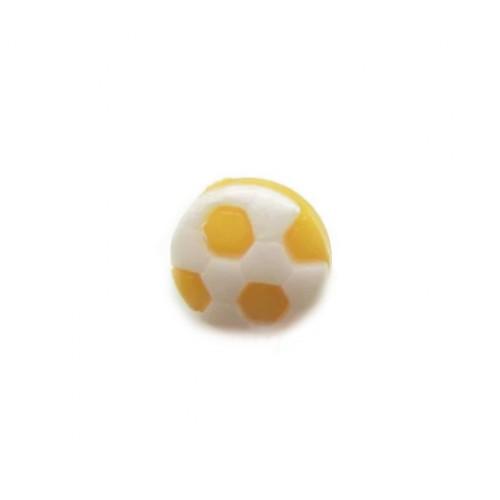 Пуговица Футбольный мяч желтый, 10 мм
