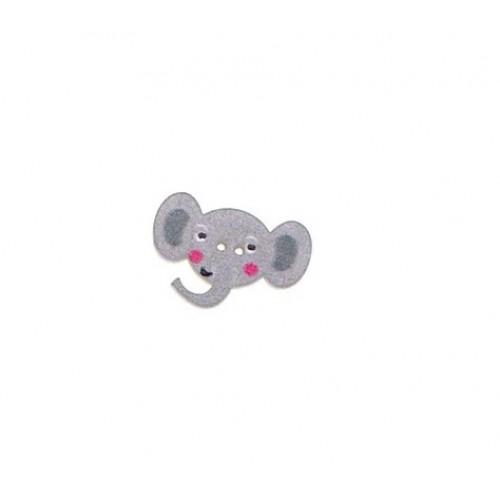 Пуговица деревянная Слон