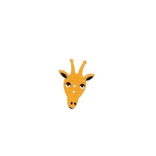 Пуговица деревянная Жираф