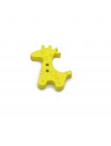 Пуговица деревянная Жираф желтый