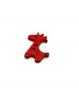 Пуговица деревянная Жираф красный