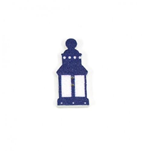 Пуговица деревянная фонарь