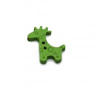 Пуговица деревянная Жираф зеленый