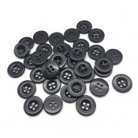 Пуговица пластиковая Черная, 13 мм
