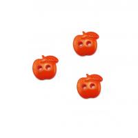 Пуговица пластиковая Яблоко оранжевое