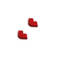 Пуговица деревянная Машинка Красная