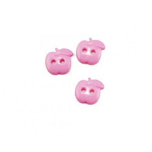Пуговица пластиковая Яблоко розовое
